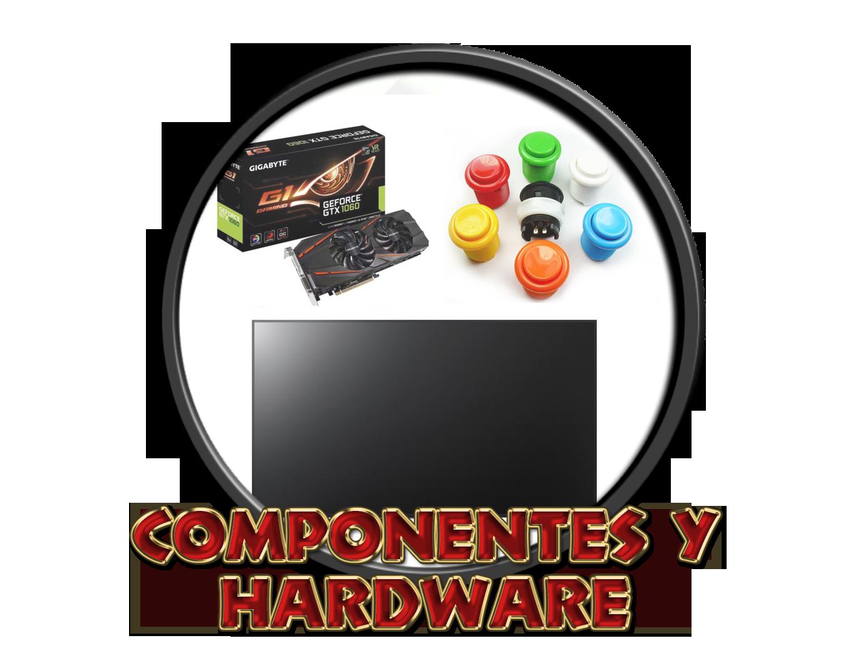 Ordenadores, componentes y pantallas.